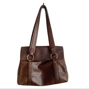 Derek Alexander Hand Bag Brown Genuine Leather